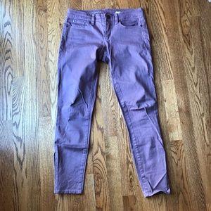 J.Crew Garment Dyed Toothpick Jean